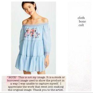 ✨NWT✨FREE PEOPLE🌼 Sunbeams Embroidered MINI DRESS